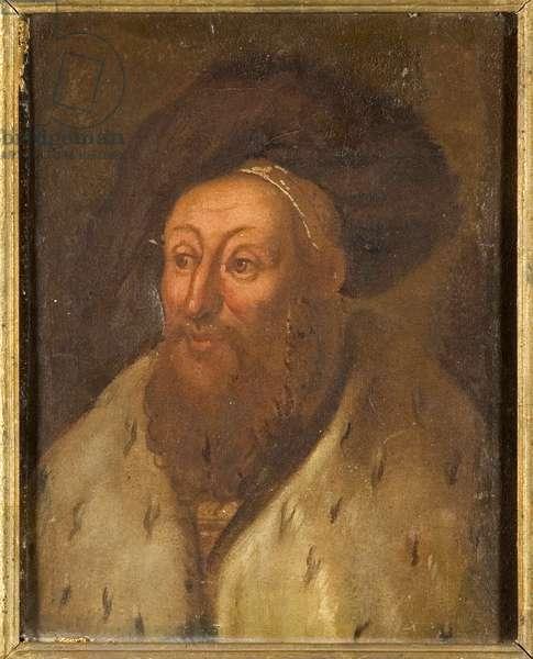Georges le Barbu, duc de Saxe - George the Bearded (1471-1539), Duke of Saxony, Anonymous . Oil on canvas. Dimension : 27x22 cm. Nationalmuseum Stockholm