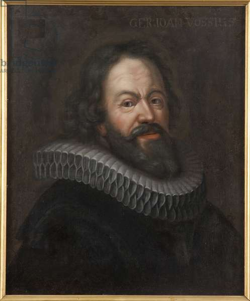 Gerard Jean Vossius (Voss), universitaire neerlandais - Portrait of Gerardus Vossius (1577-1649), Anonymous . Oil on canvas. Dimension : 60x50 cm. Nationalmuseum Stockholm