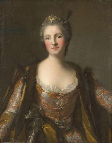 Elisabeth Catherine de Besenval, marquise de Broglie, en sultane - Marquise de Broglie (1718-1777), nee Freiin von Besenval von Brunstatt, as Sultana, by Nattier, Jean-Marc (1685-1766). Oil on canvas. 1742 Dimension : 81x63 cm. Nationalmuseum Stockholm