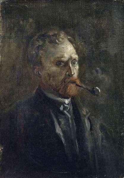 Self-Portrait par Gogh, Vincent, van (1853-1890). Oil on canvas, size : 27,2x19, 1886, Van Gogh Museum, Amsterdam