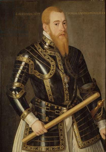 Eric XIV de Suede - Portrait of King Eric XIV of Sweden (1533-1577), by Verwilt, Domenicus (active 1544-1566). Oil on wood. Dimension : 98x69 cm. Nationalmuseum Stockholm