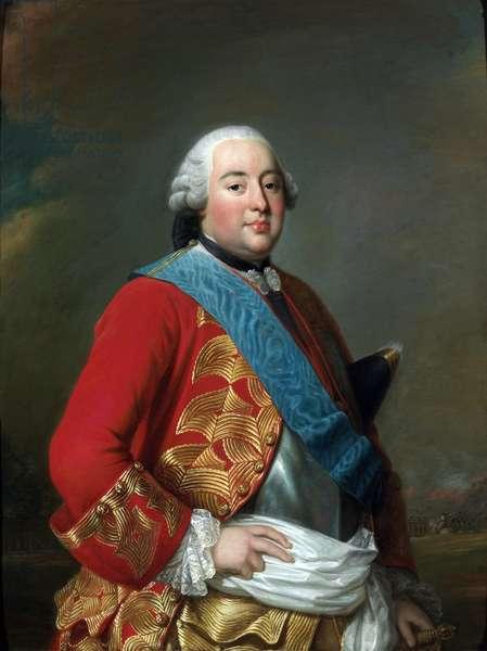 Portrait of Louis Philippe I (1725-1785), Duc de Orleans dit Le Gros - Peinture de Alexander (Alexandre) Roslin (1718-1793), ca 1770 - Oil on canvas - Nationalmuseum Stockholm