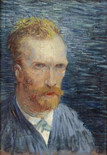 Self-Portrait par Gogh, Vincent, van (1853-1890). Oil on canvas, size : 43,2x31,3, 1887, Van Gogh Museum, Amsterdam