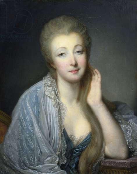 Jeanne Becu, comtesse Du Barry (1743-1793) - Greuze, Jean-Baptiste (1725-1805) - Oil on canvas - 60x47,5 - Private Collection