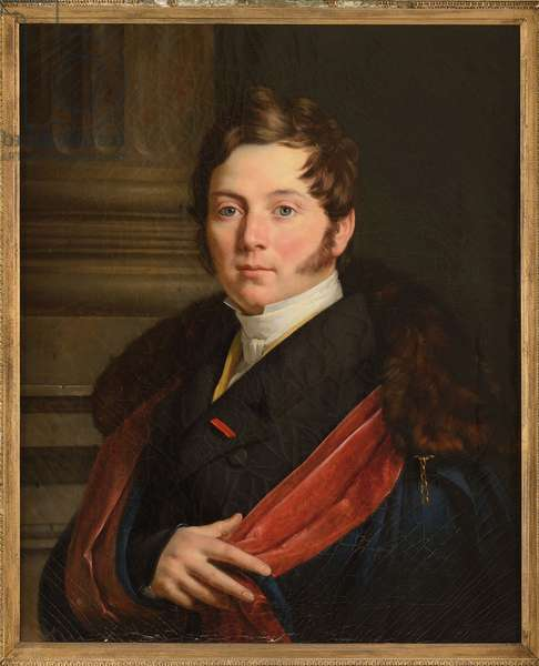 Charles Just de Beauvau Craon - Charles Juste Francois Victurnien, de Beauvau, Prince of Craon (1793-1864), by Van Ysendyck, Antoine (1801-1875). Oil on canvas, 1824. Dimension : 60x50 cm. Private Collection