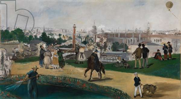 A View of the 1867 Exposition Universelle in Paris (Vue de L'Exposition Universelle de 1867) - Manet, Edouard (1832-1883) - ca 1867 - Oil on canvas - 108x196,5 - National Museum of Art, Oslo