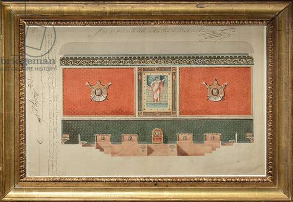 Decoration project for the Grand Chamber of the Court of Cassation, 1809 (w/c & gouache on paper)