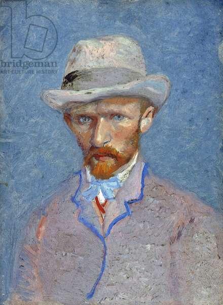 Self-Portrait par Gogh, Vincent, van (1853-1890). Oil on cardboard, size : 19x14,1, 1887, Van Gogh Museum, Amsterdam