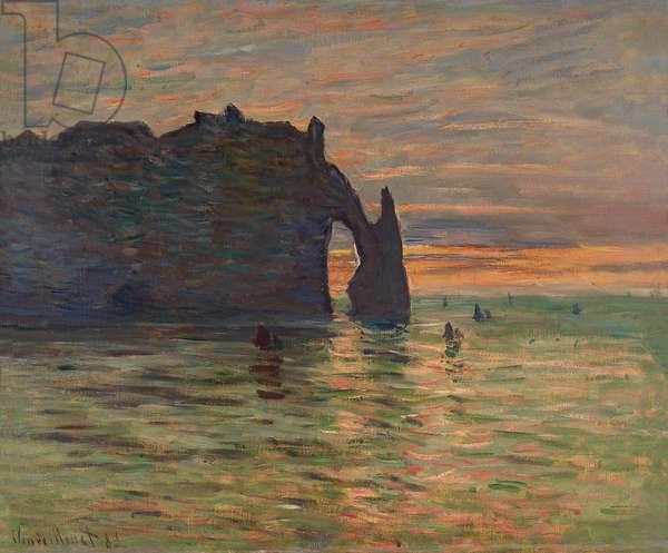 Coucher de soleil à Etretat, 1883 (oil on canvas)
