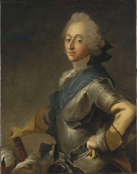 Frederic V de Danemark - Portrait of King Frederick V of Denmark (1723-1766), by Pilo, Carl Gustaf (1711-1793). Oil on canvas. Dimension : 84,5x67 cm. Nationalmuseum Stockholm