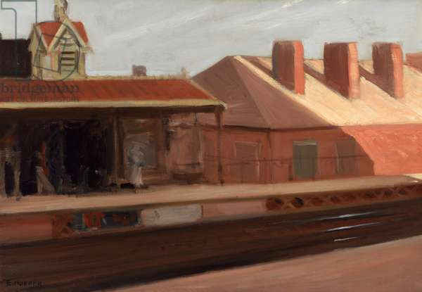 """""""The El station"""", 1908 (oil on canvas)"""