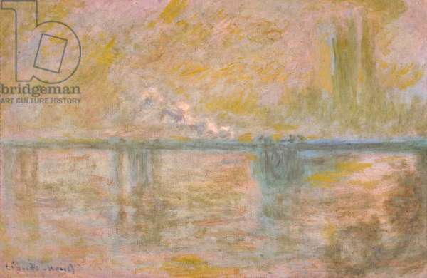 Charing-Cross Bridge in London, c.1902 (oil on canvas)