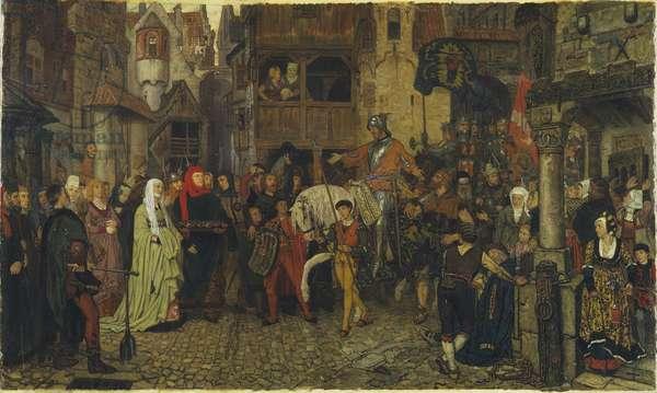L'entree de Sten Sture le Vieil (1440-1503) a Stockholm - The Entry of Sten Sture the Elder into Stockholm, by Rosen, Georg von (1843-1923). Oil on canvas, 1864. Dimension : 90x140 cm. Nationalmuseum Stockholm