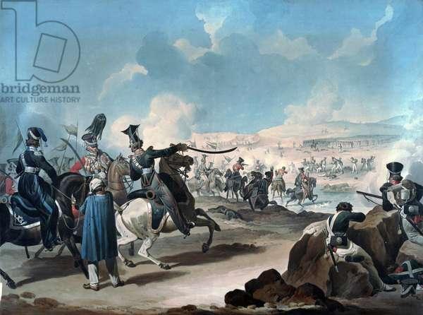 Russian cavalry attacking French infantry at Borodino (bataille de la Moskova) - Dighton, Denis (1792-1827) - ca 1813 - Watercolour on paper - 53,8x71,8 - Private Collection