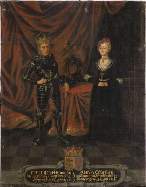 Frederic I de Danemark (Frederic de Schleswig Holstein) et Anne de Brandebourg - King Frederick I of Denmark (1471-1533) and Anna of Brandenburg (1487-1514), Anonymous . Oil on canvas. Dimension : 103x79,5 cm. Nationalmuseum Stockholm