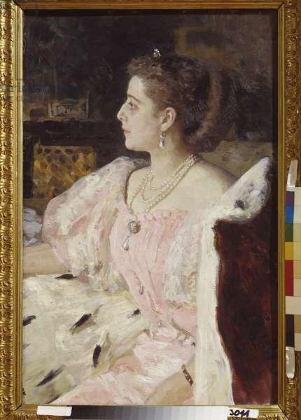 Portrait of Princess Nitalia Golovina, 1896 (oil on canvas)