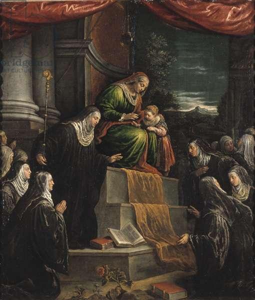 Sainte Anne et la Vierge Marie enfant - Saint Anne and Mary as child, by Bassano, Leandro (1557-1622). Oil on canvas. Dimension : 117x99 cm. Nationalmuseum Stockholm