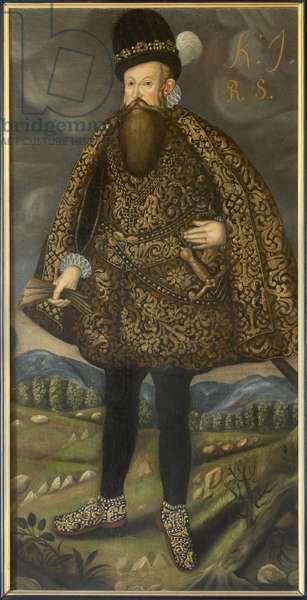 Jean III roi de Suede - Portrait of the King John III of Sweden (1537-1592), Anonymous . Oil on canvas. Dimension : 195x98 cm. Nationalmuseum Stockholm