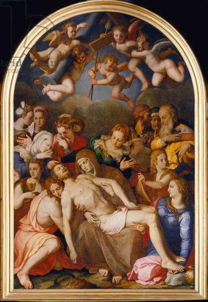 La descente de Croix - The Descent from the Cross - Bronzino, Agnolo (1503-1572) - 1553 - Oil on wood - 263x175 - Palazzo Vecchio, Florence
