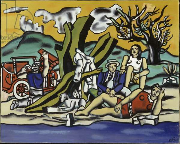 The countryside Party (second state), 1953 (oil on canvas)