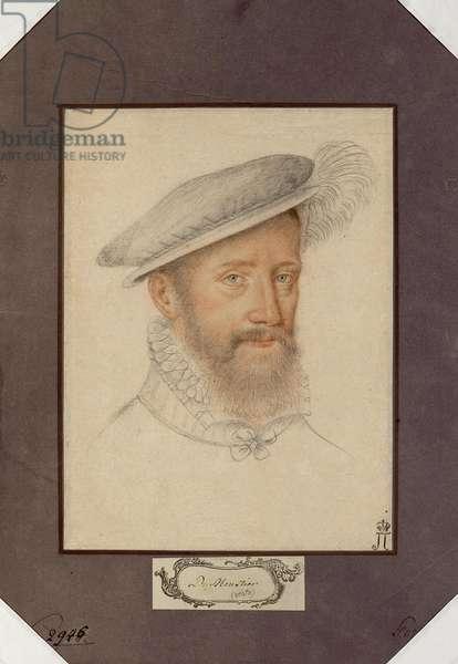 Portrait of Jacques d'Albon, seigneur de Saint Andre (1505-1562), marshal of France, Anonymous. Black chalk and sanguine on paper, size : 27,1x20, c. 1560, State Hermitage, St. Petersburg