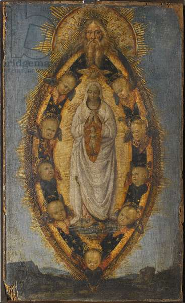 L'Immaculee Conception - The Immaculate Conception, by Pinturicchio, Bernardino, School of . Oil on wood. Dimension : 33,5x21 cm. Nationalmuseum Stockholm