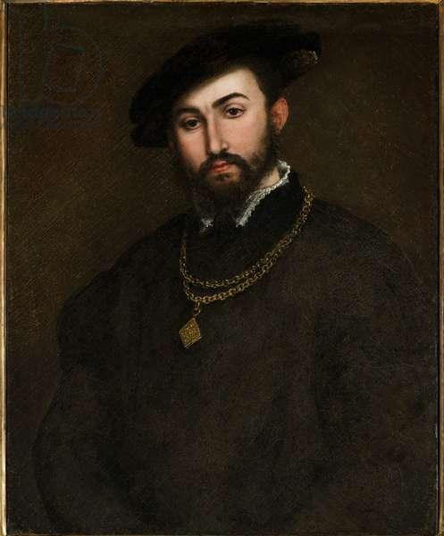 Portrait of Girolamo degli Azzoni Avogaro (1467-1519) par Lotto, Lorenzo (1480-1556). Oil on canvas, size : 67x52, First Half of 16th cen., Fondazione Cini, Venezia