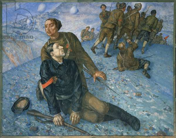 The death of the commissioner, 1928 (oil on canvas)
