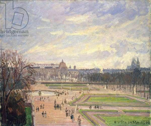 Le jardin des Tuileries. Peinture de Camille Pissaro (1830-1903), huile sur toile, 1900.  State Hermitage, St. Petersburg
