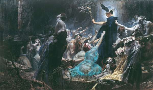 The Souls of Acheron, 1898 (oil on canvas)