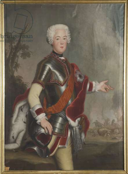 Auguste Guillaume de Prusse, prince et general - Portrait of Prince Augustus William of Prussia (1722-1758), Anonymous . Oil on canvas, First half of the 18th cent.. Dimension : 149x117 cm. Nationalmuseum Stockholm