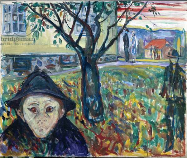 Jealousy in the Garden - Edvard Munch (1863-1944). Oil on canvas, 1929-1930. Dimension : 100x120 cm. Munch Museum, Oslo