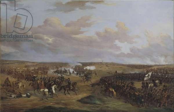 La bataille de Dennewitz (Allemagne), le 6 septembre 1813 - The Battle of Dennewitz on 6 September 1813, by Wetterling, Alexander (1796-1858). Oil on canvas, 1842. Dimension : 156x233 cm. Nationalmuseum Stockholm