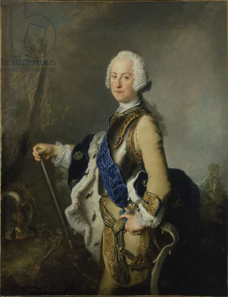 Adolphe Frederic de Suede - Portrait of Adolph Frederick (1710-1771), King of Sweden, by Pesne, Antoine (1683-1757). Oil on canvas, 1743. Dimension : 145x114 cm. Nationalmuseum Stockholm