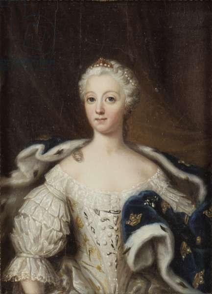Louise Ulrique de Prusse, reine de Suede - Portrait of Louisa Ulrika of Prussia (1720-1782), Queen of Sweden, by Pasch, Ulrika Fredrika (1735-1796). Oil on wood. Dimension : 21x15 cm. Nationalmuseum Stockholm