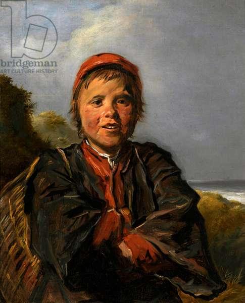 """""""""""Le petit pecheur"""""""" (The Fisher Boy) Peinture de Frans Hals (1581-1666) 1630-1633 - Oil on canvas Dim 74x61 cm Royal Museum of Fine Arts, Anvers"""