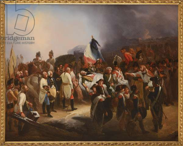 The death of General Marceau, by Bouchot, Francois (1800-1842). Oil on canvas. Dimension : 66x81 cm. Private Collection