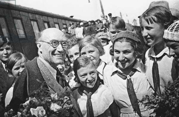 Andre Gide in the Soviet Union - 1936 -  Russian State Archive of Literature and Art, Moscow