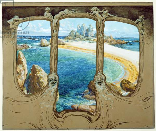 View from a Carriage Window, 1901-1902 (watercolour and gouache on paper)