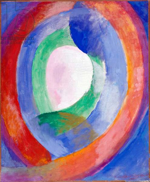 """""Formes circulaires, lune no 1"""" Peinture de Robert Delaunay (1885-1941) - 1913 - Oil on canvas Dim 65x54 cm - Staedtische Galerie im Lenbachhaus, Munich"
