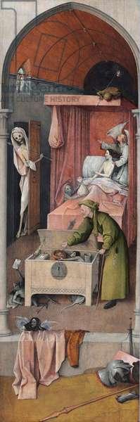 La mort et la misere Peinture de Hieronymus Van Aeken (Aken) dit Jerome Bosch (1450-1516), 1485-1490 Huile sur toile Washington, National Gallery of Art