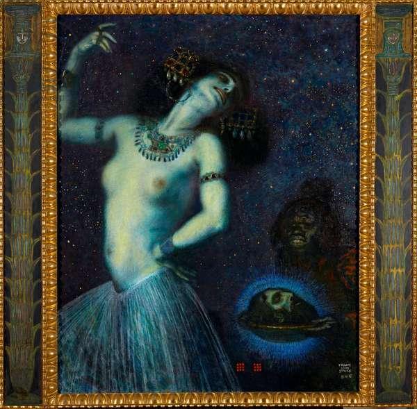 """""""""""Salome"""""""" Peinture de Franz Ritter von Stuck (1863-1928) - 1906 - Oil on canvas Dim 115,5x62,5 cm Staedtische Galerie im Lenbachhaus, Munich"""