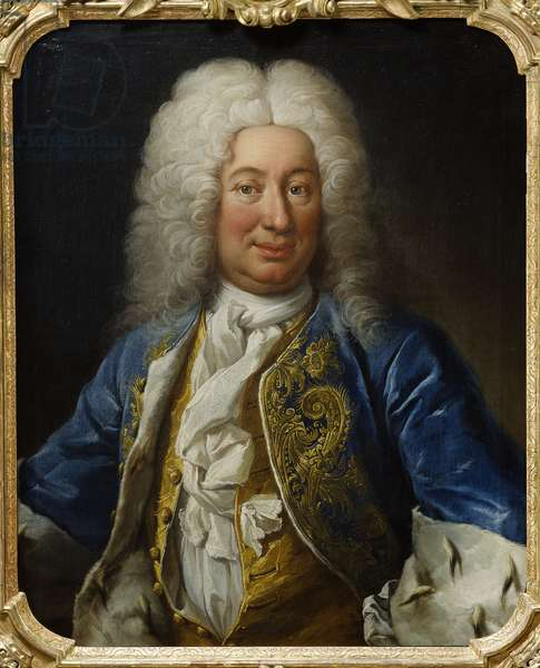Le roi Frederic I de Suede - Portrait of King Frederick I of Sweden (1676-1751), by Mijtens (Meytens), Martin van, the Younger (1695-1770). Oil on canvas, 1730. Dimension : 80x66 cm. Nationalmuseum Stockholm