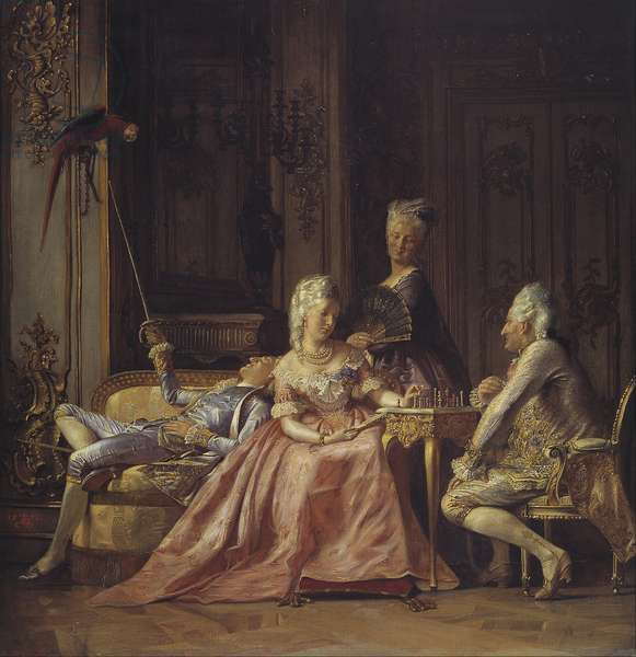 Scene from the court of Christian VII of Denmark, 1873 (oil on canvas)