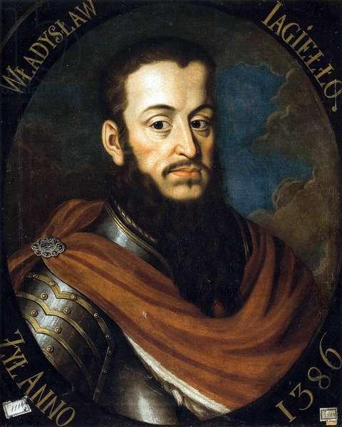 Ladislas II Jagellon (Ladislas II de Pologne) (1352 ou 1362-1434) - Portrait of King Wladyslaw II. Jagiello par Bacciarelli, Marcello (1731-1818), 1790 - Oil on canvas - Muzeum Narodowe, Warsaw