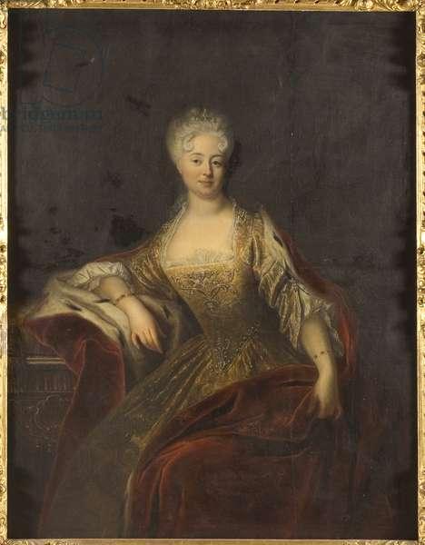 Princesse Jeanne Charlotte d'Anhalt Dessau, margravine de Brandebourg Schwedt - Portrait of Princess Johanna Charlotte of Anhalt-Dessau (1682-1750), Margravine of Brandenburg-Schwedt, Anonymous . Oil on canvas. Dimension : 153x118 cm. Nationalmuseum Stockholm