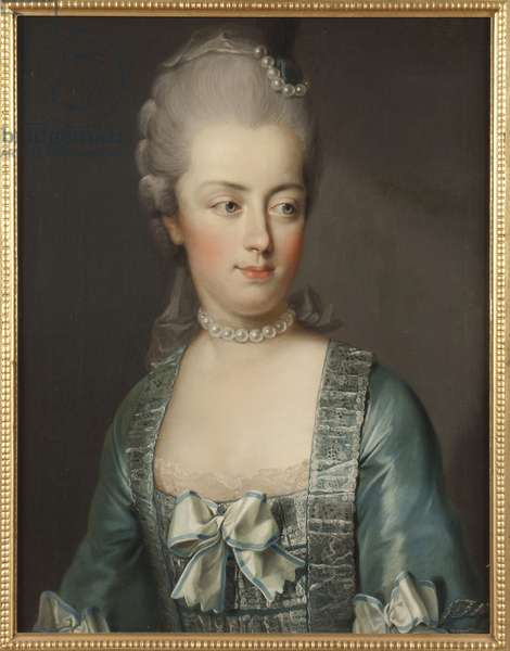 Portrait of Archduchess Marie Antoinette of Austria (1755-1793), Queen of the French, by Hickel, Josef (1736 -1807). Oil on canvas. Dimension : 65x50 cm. Nationalmuseum Stockholm