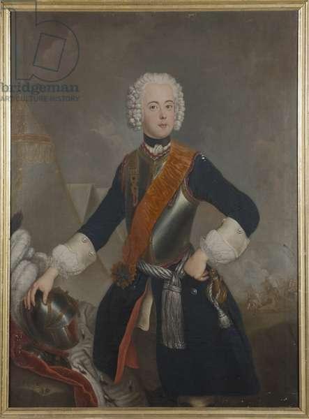 Henri de Prusse - Portrait of Prince Henry of Prussia (1726-1802), Anonymous . Oil on canvas, 1740s. Dimension : 148x117 cm. Nationalmuseum Stockholm