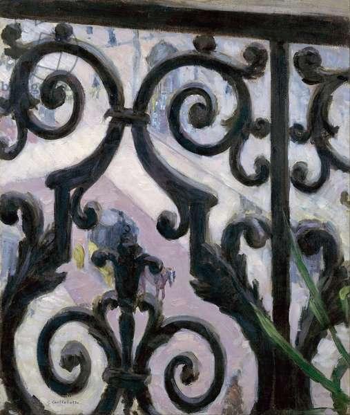 Vue depuis le balcon - View from a balcony - Peinture de Gustave Caillebotte (1848-1894), 1880 - Oil on canvas, 65,6x54,9 - Van Gogh Museum, Amsterdam