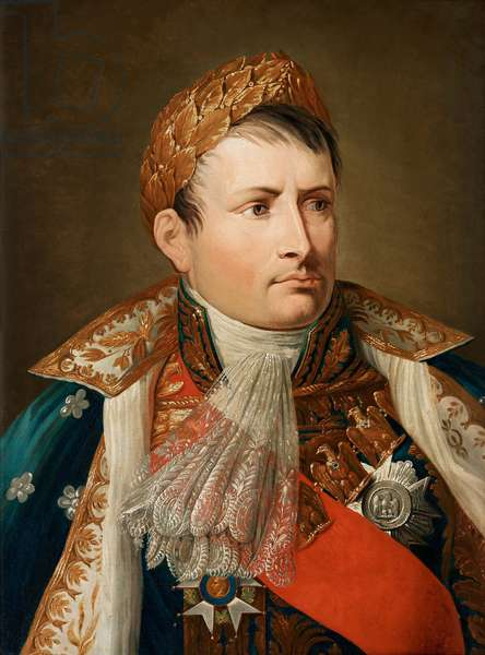 Portrait of Emperor Napoleon I Bonaparte, Oil on canvas by Andrea Appiani